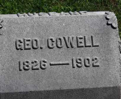 COWELL, GEO. - Erie County, Ohio | GEO. COWELL - Ohio Gravestone Photos