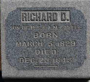 COWELL, RICHARD D. - Erie County, Ohio | RICHARD D. COWELL - Ohio Gravestone Photos