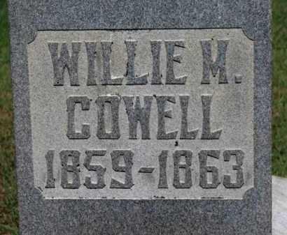 COWELL, WILLIE M. - Erie County, Ohio | WILLIE M. COWELL - Ohio Gravestone Photos