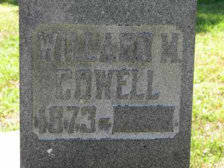 COWELL, WILLIAM M. - Erie County, Ohio | WILLIAM M. COWELL - Ohio Gravestone Photos