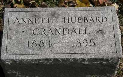 CRANDALL, ANNETTE - Erie County, Ohio   ANNETTE CRANDALL - Ohio Gravestone Photos