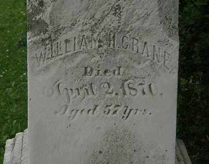 CRANE, WILLIAM H. - Erie County, Ohio | WILLIAM H. CRANE - Ohio Gravestone Photos