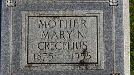 CRECELIUS, MARY N. - Erie County, Ohio   MARY N. CRECELIUS - Ohio Gravestone Photos