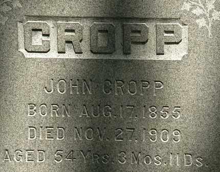 CROPP, JOHN - Erie County, Ohio | JOHN CROPP - Ohio Gravestone Photos