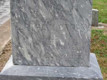 CROSBY, MARTHA M. - Erie County, Ohio   MARTHA M. CROSBY - Ohio Gravestone Photos