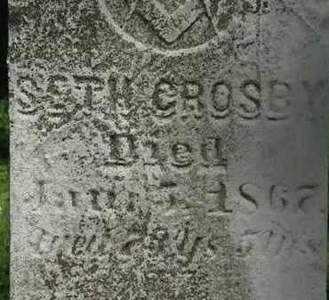 CROSBY, SETH - Erie County, Ohio   SETH CROSBY - Ohio Gravestone Photos