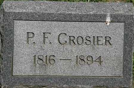 CROSIER, P.F, - Erie County, Ohio | P.F, CROSIER - Ohio Gravestone Photos