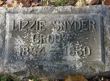 SNYDER CROUSE, LIZZIE - Erie County, Ohio | LIZZIE SNYDER CROUSE - Ohio Gravestone Photos