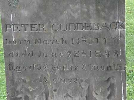 CUDDERBACK, PETER - Erie County, Ohio | PETER CUDDERBACK - Ohio Gravestone Photos