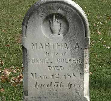 CULVER, MARTHA A. - Erie County, Ohio | MARTHA A. CULVER - Ohio Gravestone Photos