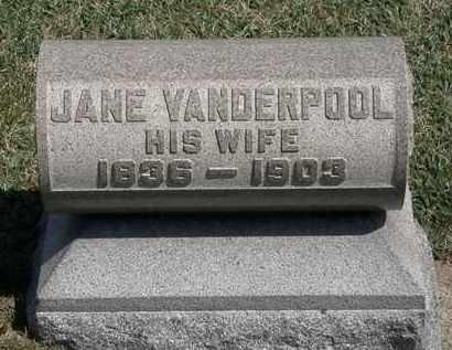 VANDERPOOL CURRIER, JANE - Erie County, Ohio | JANE VANDERPOOL CURRIER - Ohio Gravestone Photos
