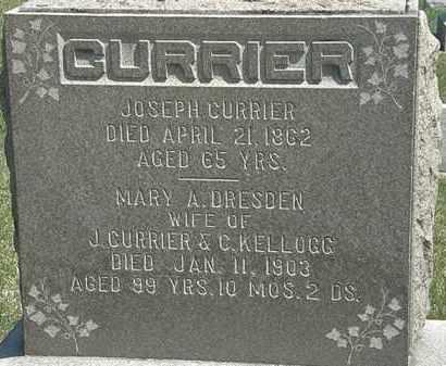 CURRIER, JOSEPH - Erie County, Ohio | JOSEPH CURRIER - Ohio Gravestone Photos