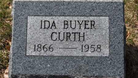 BUYER CURTH, IDA - Erie County, Ohio   IDA BUYER CURTH - Ohio Gravestone Photos