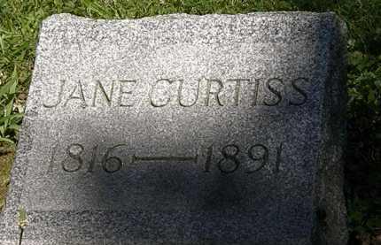 CURTISS, JANE - Erie County, Ohio | JANE CURTISS - Ohio Gravestone Photos