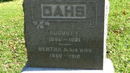 DAHS, AUGUST F. - Erie County, Ohio | AUGUST F. DAHS - Ohio Gravestone Photos