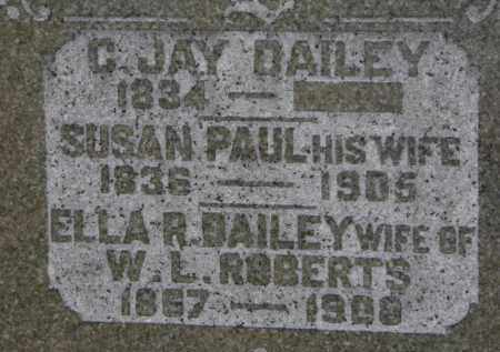 DAILEY, SUSAN - Erie County, Ohio | SUSAN DAILEY - Ohio Gravestone Photos