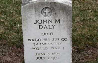 DALY, JOHN M. - Erie County, Ohio | JOHN M. DALY - Ohio Gravestone Photos