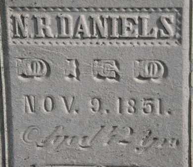 DANIELS, N.R. - Erie County, Ohio   N.R. DANIELS - Ohio Gravestone Photos