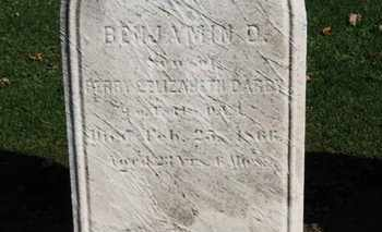 DARBY, BENJAMIN D. - Erie County, Ohio   BENJAMIN D. DARBY - Ohio Gravestone Photos