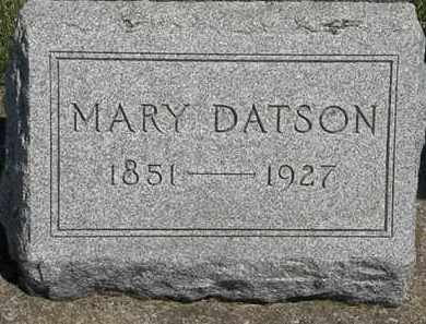 DATSON, MARY - Erie County, Ohio | MARY DATSON - Ohio Gravestone Photos