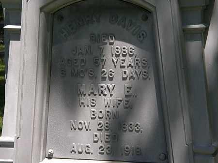 DAVIS, HENRY - Erie County, Ohio | HENRY DAVIS - Ohio Gravestone Photos