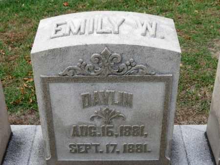 DAVLIN, EMILY W. - Erie County, Ohio | EMILY W. DAVLIN - Ohio Gravestone Photos