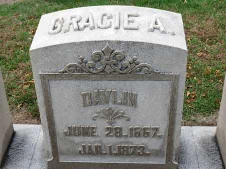 DAVLIN, GRACIE A. - Erie County, Ohio   GRACIE A. DAVLIN - Ohio Gravestone Photos