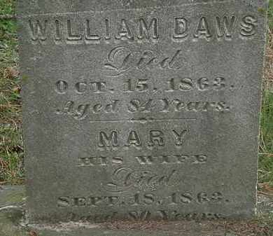 DAWS, WILLIAM - Erie County, Ohio | WILLIAM DAWS - Ohio Gravestone Photos