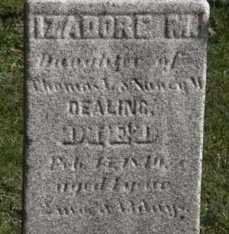 DEALING, IZADORE M. - Erie County, Ohio | IZADORE M. DEALING - Ohio Gravestone Photos