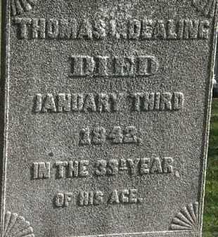 DEALING, THOMAS L. - Erie County, Ohio   THOMAS L. DEALING - Ohio Gravestone Photos