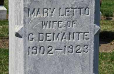 DEMANTE, MARY - Erie County, Ohio | MARY DEMANTE - Ohio Gravestone Photos