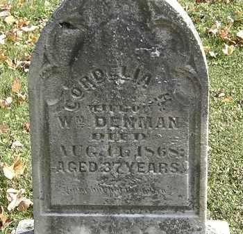 DENMAN, CORDELIA H. - Erie County, Ohio | CORDELIA H. DENMAN - Ohio Gravestone Photos