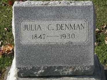 DENMAN, JULIA C. - Erie County, Ohio | JULIA C. DENMAN - Ohio Gravestone Photos