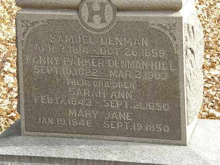 DENMAN-HILL, FANNY - Erie County, Ohio | FANNY DENMAN-HILL - Ohio Gravestone Photos