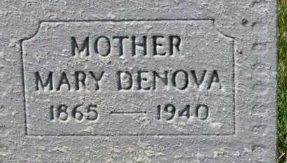 DENOVA, MARY - Erie County, Ohio | MARY DENOVA - Ohio Gravestone Photos