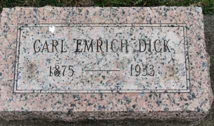 DICK, CARL EMRICH - Erie County, Ohio   CARL EMRICH DICK - Ohio Gravestone Photos