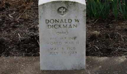 DICKMAN, DONALD W. - Erie County, Ohio | DONALD W. DICKMAN - Ohio Gravestone Photos