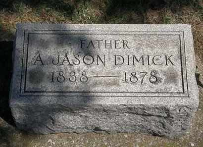 DIMICK, A. JASON - Erie County, Ohio | A. JASON DIMICK - Ohio Gravestone Photos