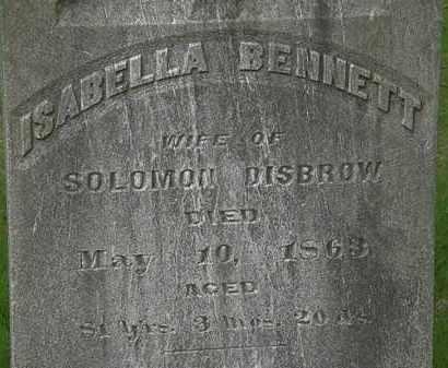 BENNETT DISBROW, ISABELLA - Erie County, Ohio | ISABELLA BENNETT DISBROW - Ohio Gravestone Photos