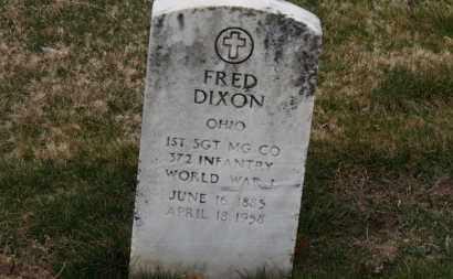 DIXON, FRED - Erie County, Ohio | FRED DIXON - Ohio Gravestone Photos