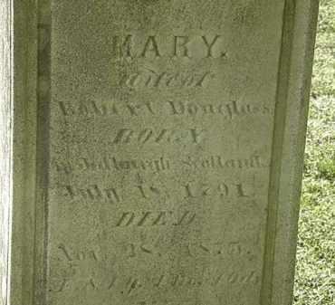 DOUGLAS, MARY - Erie County, Ohio | MARY DOUGLAS - Ohio Gravestone Photos