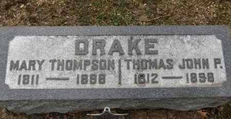 THOMPSON DRAKE, MARY - Erie County, Ohio | MARY THOMPSON DRAKE - Ohio Gravestone Photos