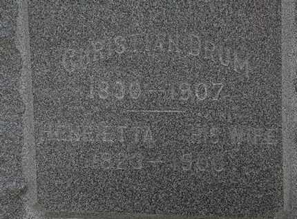 DRUM, CHRISTIAN - Erie County, Ohio | CHRISTIAN DRUM - Ohio Gravestone Photos