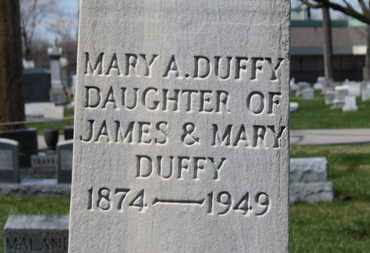 DUFFY, MARY - Erie County, Ohio | MARY DUFFY - Ohio Gravestone Photos