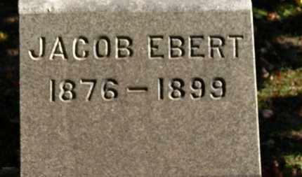 EBERT, JACOB - Erie County, Ohio | JACOB EBERT - Ohio Gravestone Photos