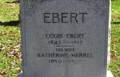EBERT, KATHERINE - Erie County, Ohio | KATHERINE EBERT - Ohio Gravestone Photos