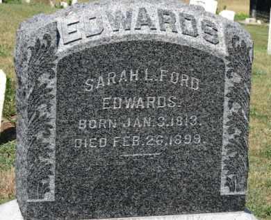 FORD EDWARDS, SARAH L. - Erie County, Ohio | SARAH L. FORD EDWARDS - Ohio Gravestone Photos