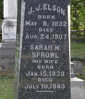 ELSON, SARAH M. - Erie County, Ohio | SARAH M. ELSON - Ohio Gravestone Photos