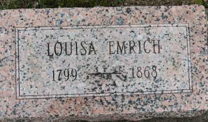 EMRICH, LOUISA - Erie County, Ohio | LOUISA EMRICH - Ohio Gravestone Photos