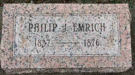 EMRICH, PHILIP J. - Erie County, Ohio | PHILIP J. EMRICH - Ohio Gravestone Photos